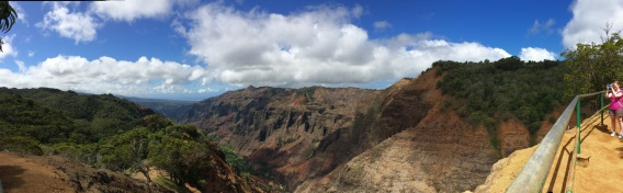 View from the hike around Waimea Canyon